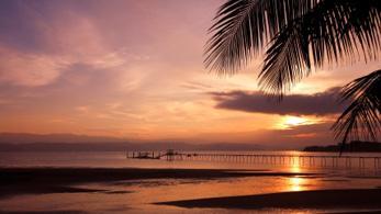 Sonnenuntergang am Strand von Costa Rica