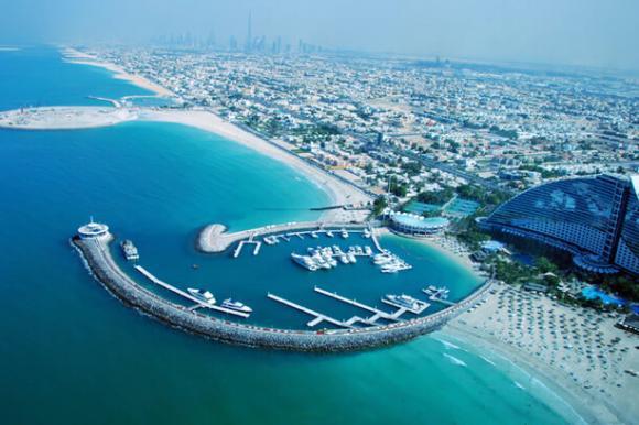 Luftaufnahme von Dubai