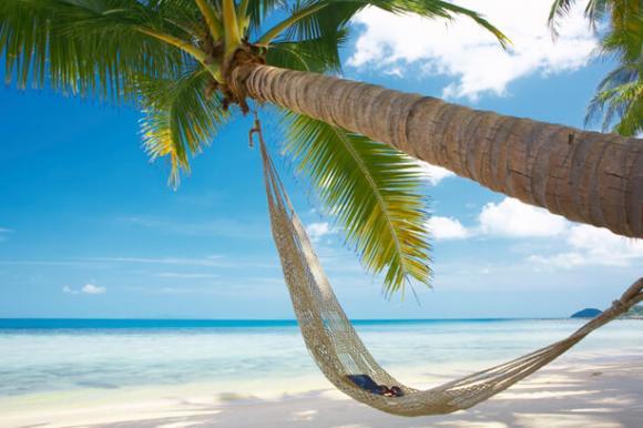 Hängematte am Strand von Thailand