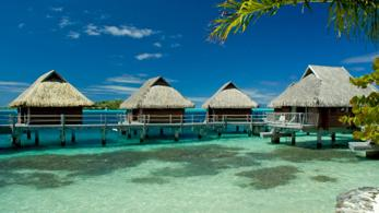 Bungalows auf Bora Bora