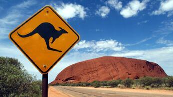 Känguru-Schild in Australien