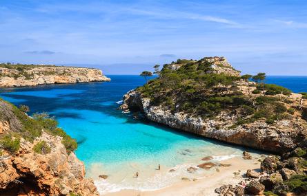 Strand Cala des Moro Beach auf Mallorca