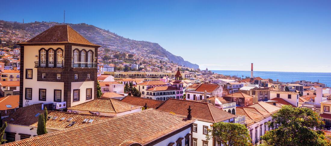 Überblick über Funchal, madeira, portugal
