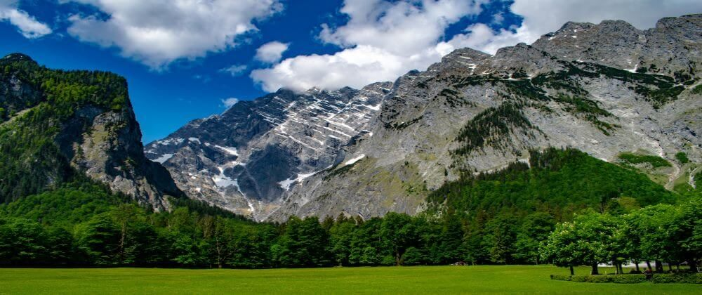Bayern, Berchtesgarden, Blick auf Watzmann vom Königssee