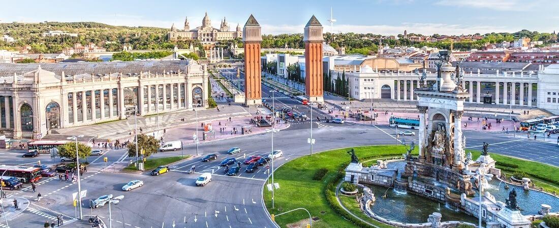 Blick auf das Zentrum von Barcelona