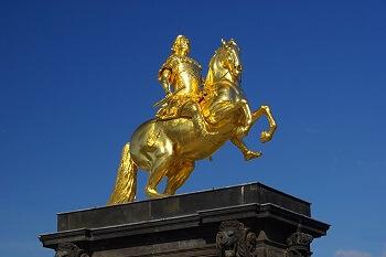 Goldener Reiter, Denkmal in Dresden, Deutschland