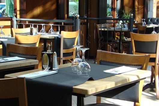 Gästebereich in einem Restaurant am Titisee, Deutschland