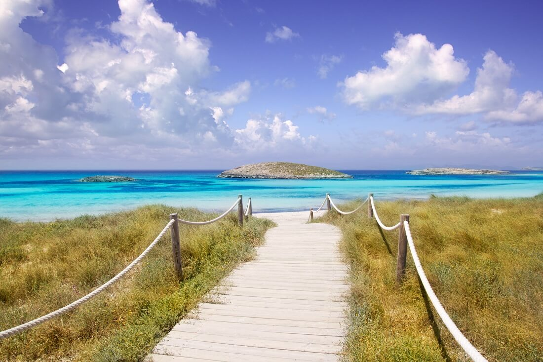 Playa de ses Illetes im Norden von Formentera