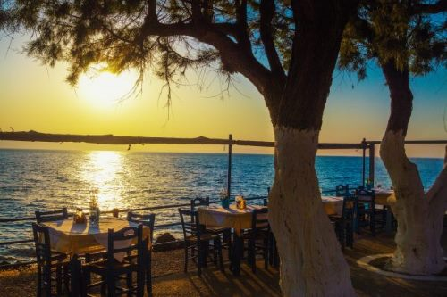 Griechenland, Kreta, Sonnenuntergang