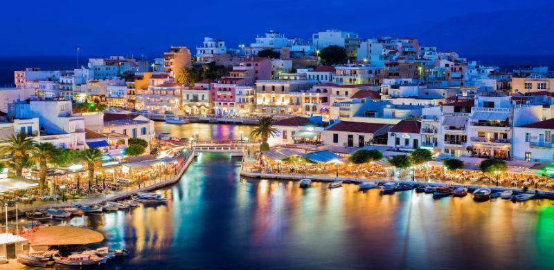 Kreta, Hafenpromenade Agios Nikolaos