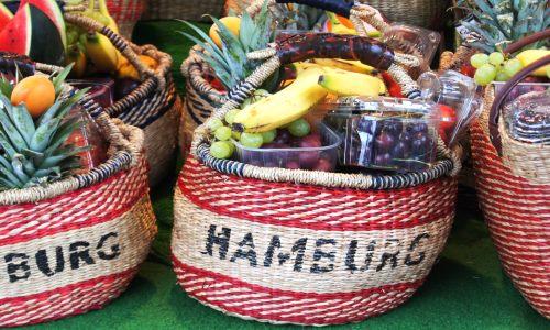 Markt in der Hafenstadt Hamburg