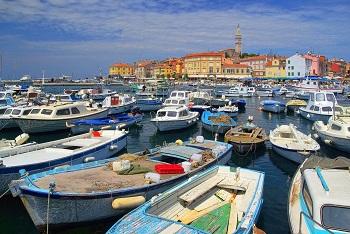 Hafen von Rovinj auf Istrien