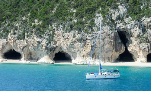 Italien, Sardinien, Cala Luna in Orosei Bay