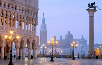 Makusplatz Venedig Morgenstimmung