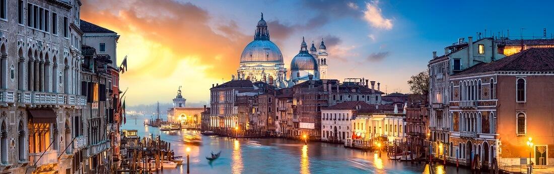 Venedig Panorama bei Sonnenuntergang, Italien