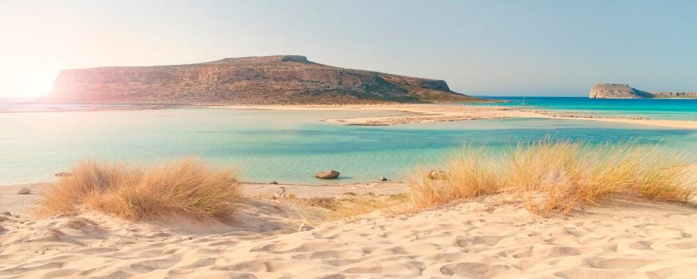 Strand von Chania auf Kreta
