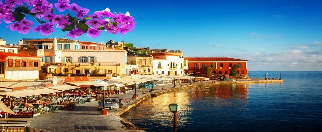Griechenland, Hafenproenade auf der Insel Kreta