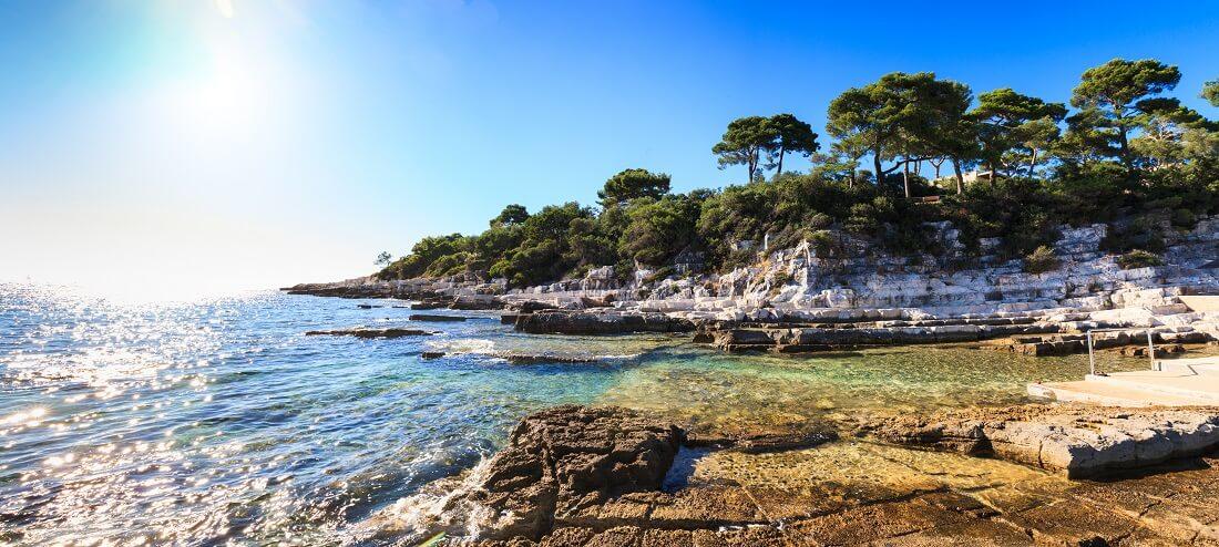 Kroatien Istrien Porec Strand