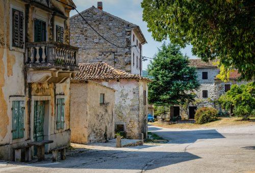 Istrien, alte Gebäude