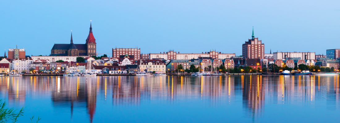 Rostock, Blick auf Stadt