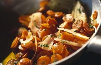 Möhren mit Parmesan aus Sardinien