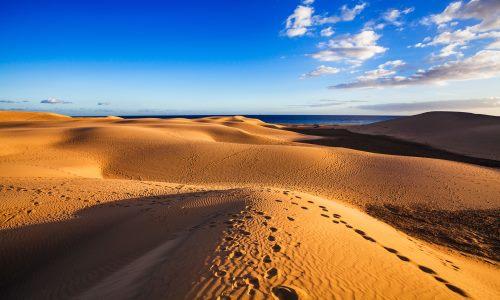 Dünen in Maspalomas auf der kanarischen Insel Gran Canaria
