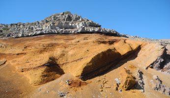 Kanaren, La Palma, Felsen am Roque de los Muchachos(2)