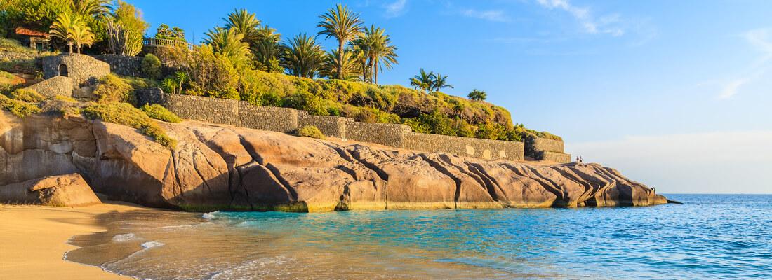 Strand der Costa Adeje, auf Teneriffa, Kanaren, Spanien