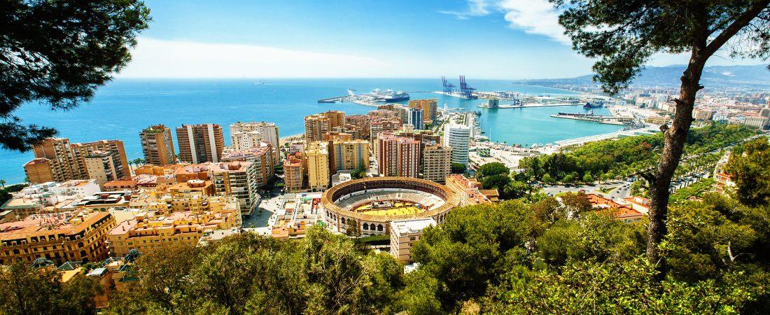 Spanisches Festland, Andalusien, Blick auf Malaga