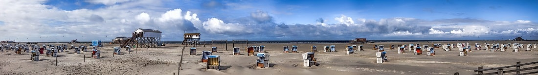 St Peter Ording Strandpanorama