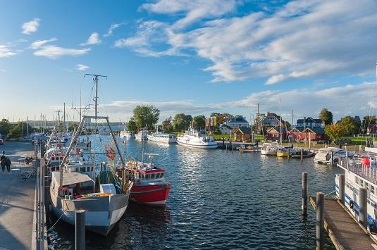 Timmendorfer Strand Hafen im Ortsteil Niendorf