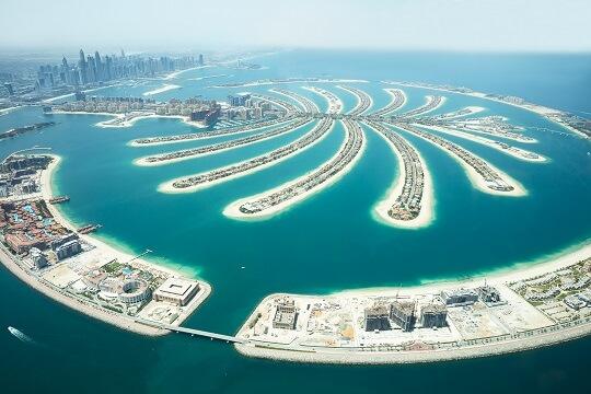 Luftbild von The Palm mit dem Atlantis the Palm in Dubai, VAW