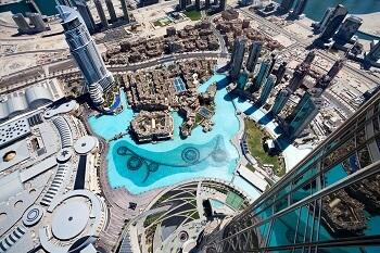 Blick vom Burj Kkhalifa in Dubai, VAE