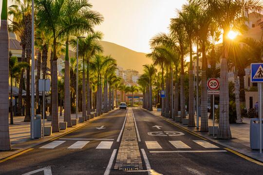 Strasse auf Teneriffa, Kanaren, Spanien