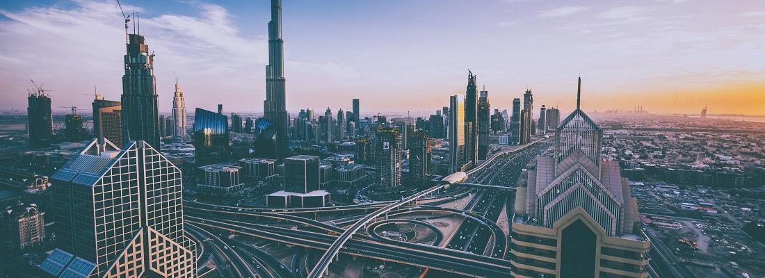 Blick auf Downtown von Dubai