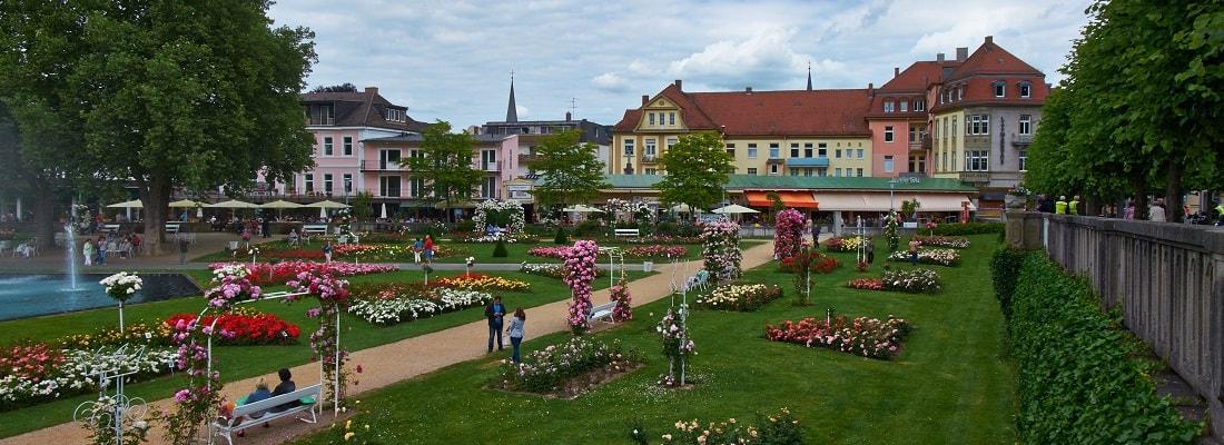 Blick auf den Kurpark Bad Kissingen, Bayern