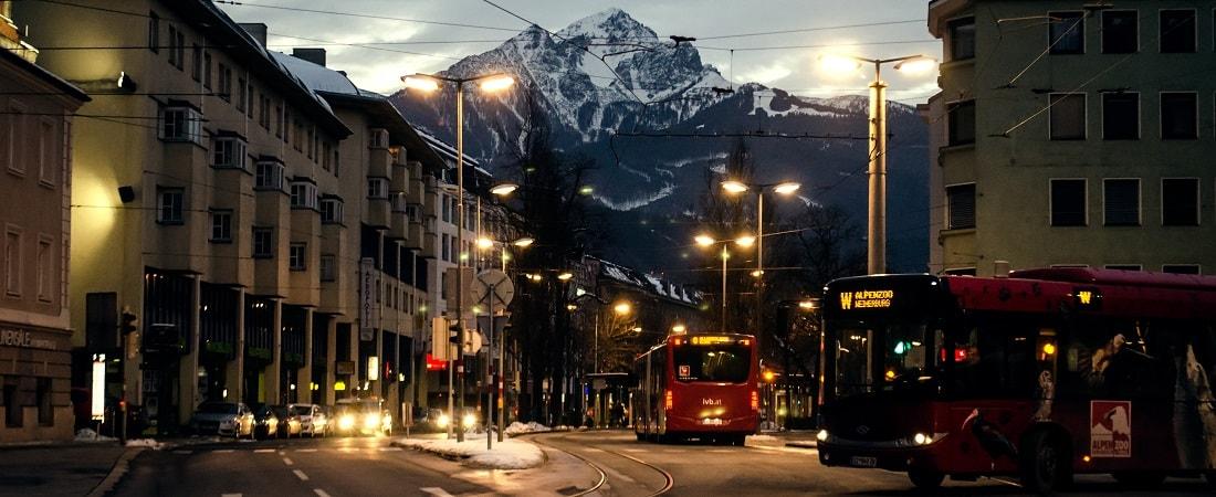 Busse in Innsbruck, Österreich
