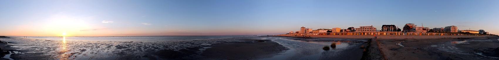 Cuxhaven-Duhnen Strandpanorama