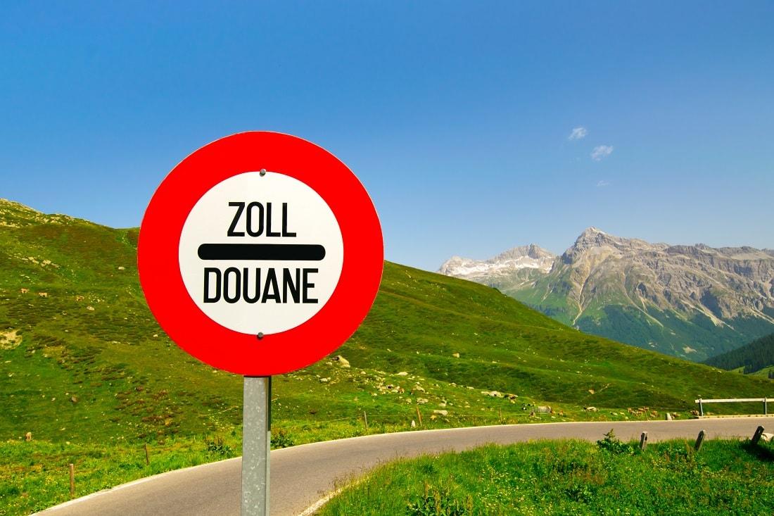 Grenzübergang zur Schweiz