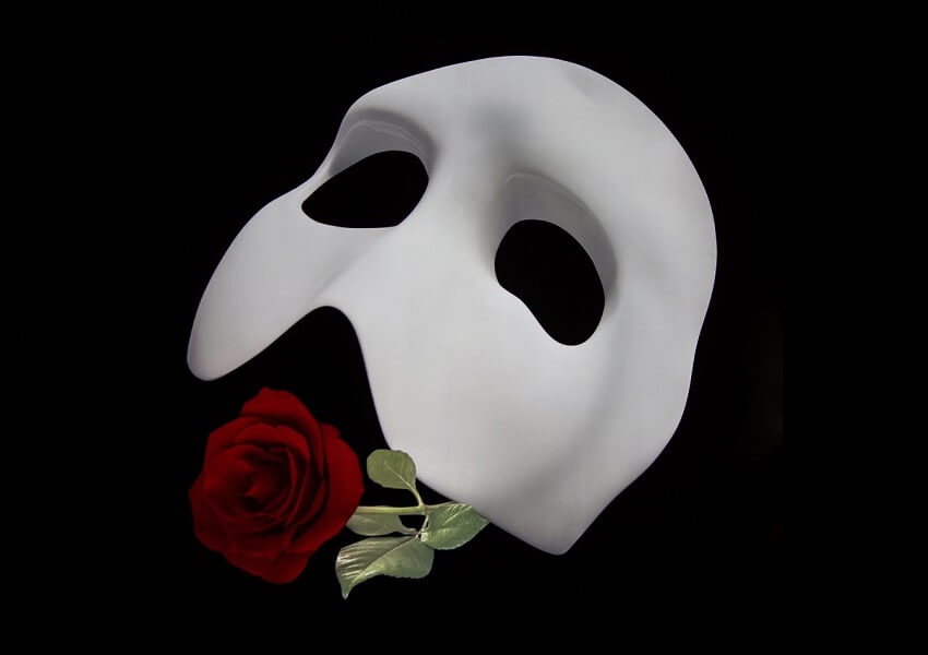 Phantom der Oper, Maske mit Rose