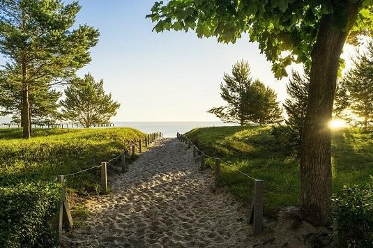 Rügen Binz Weg zum Strand