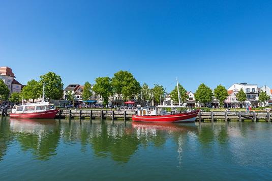 Hafen in Warnemünde, Ostsee