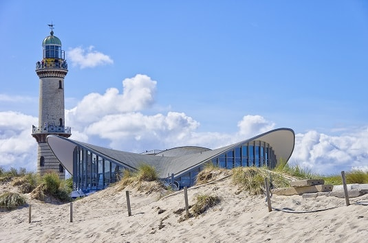 Rostock-Warnemünde Teepot mit Leuchtturm