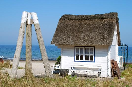 Scharbeutz Häuschen am Strand