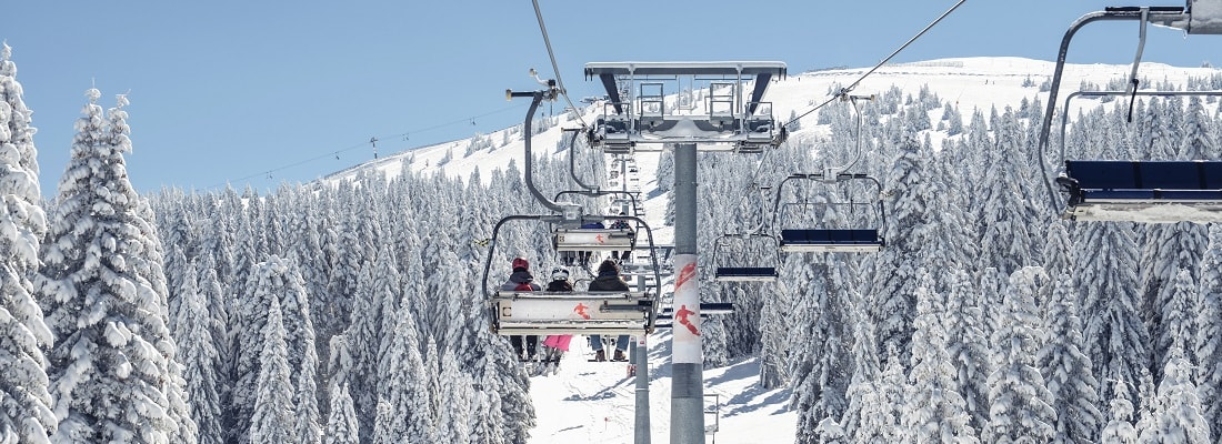 Ski Resort, Ski Lift, Berge, Schnee