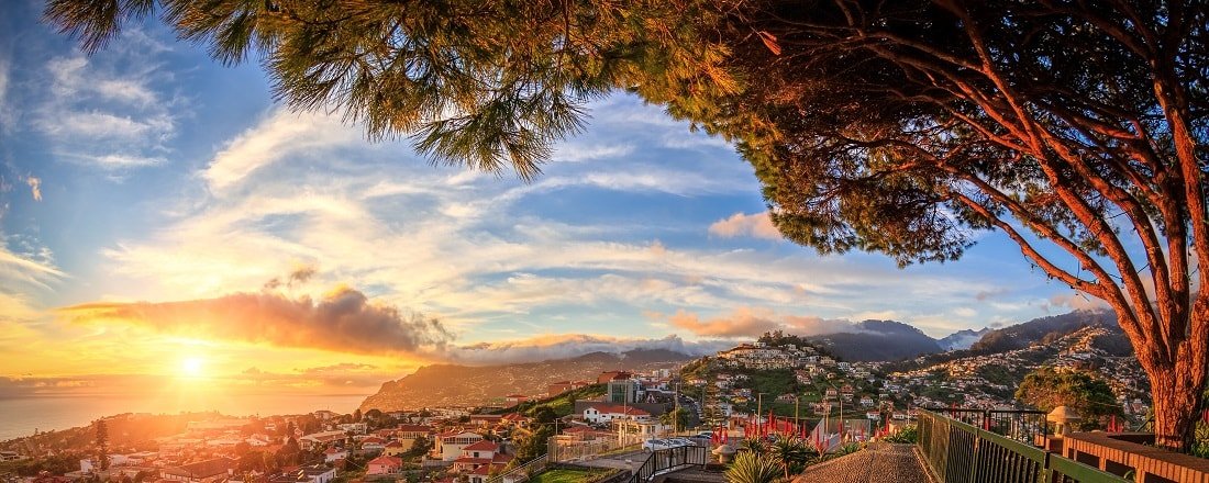 Sonnenuntergang auf Madeira, Funchal