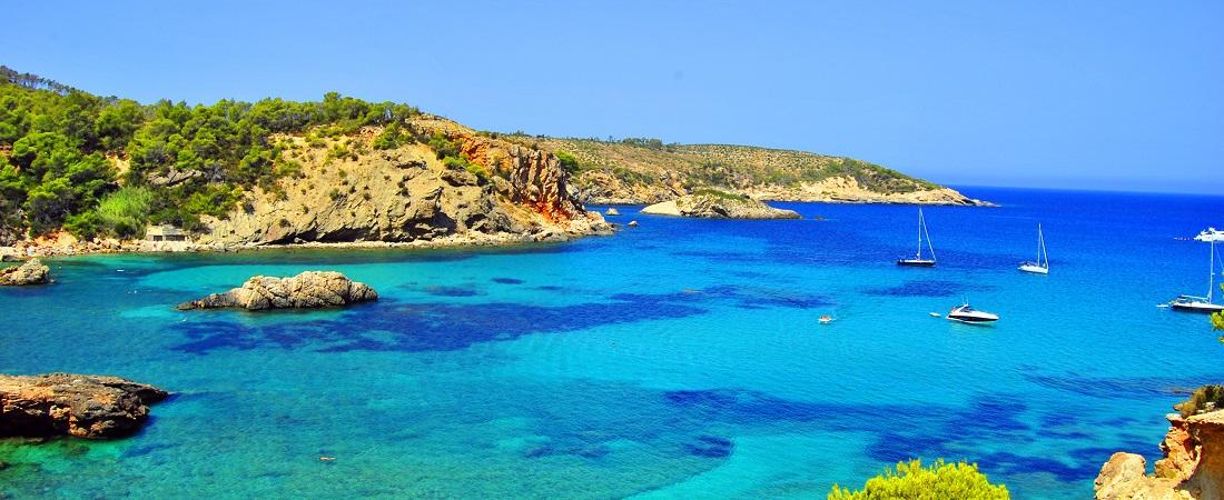 Strand auf Formentera, Balearen, Spanien
