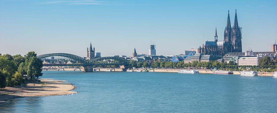 Panorama von Köln mit dem Dom