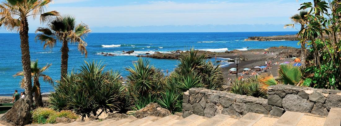 Wunderschönes Strandpanorama, La Palma, Kanarische Inseln, Spanien