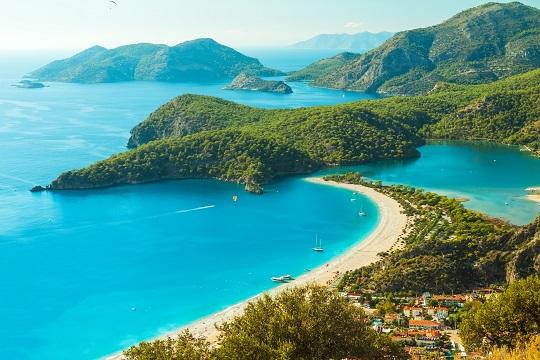 Luftbild von uldeniz in der Türkei